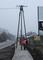 Nowy chodnik ze starym słupem - Nawojowa Góra / Gmina Krzeszowice / Powiat Krakowski