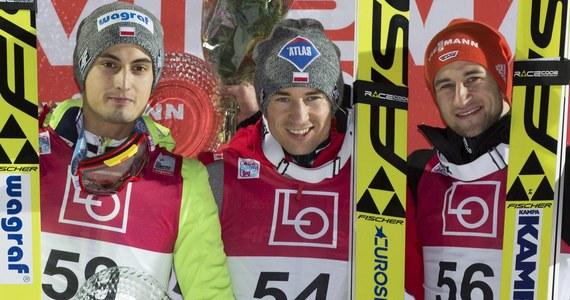 """Kamil Stoch przyznał, że zwycięstwo w niedzielnym konkursie w Pucharze Świata w norweskim Lillehammer zaskoczyło go. """"Po drugim skoku nie liczyłem, że znajdę się na podium"""" - przyznał dwukrotny mistrz olimpijski z Soczi."""