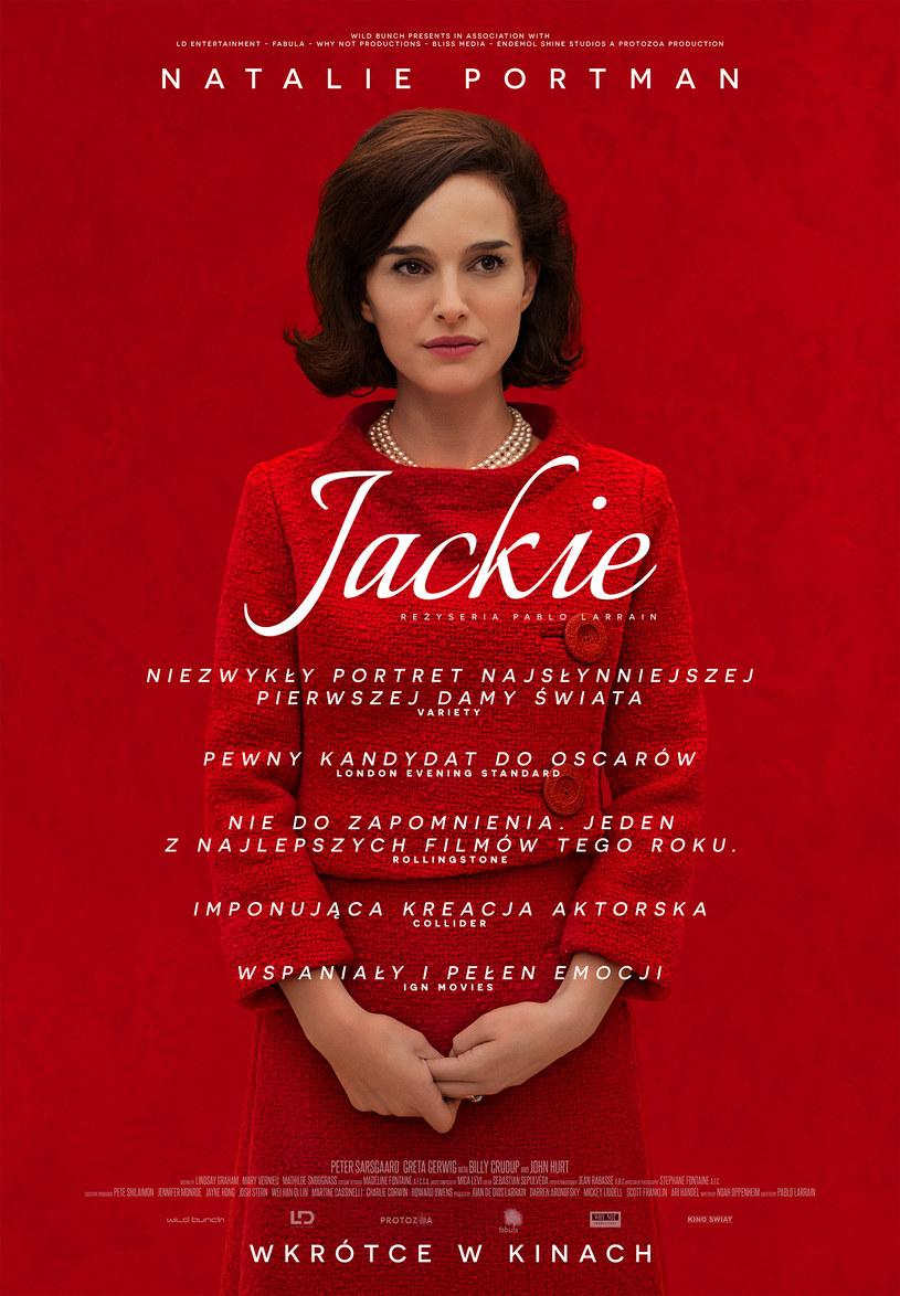"""3 lutego 2017 roku na ekrany polskich kin trafi """"Jacki"""" - film, który przyniósł Natalie Portman nominację do Złotego Globu i umocnił jej szanse na Oscara."""