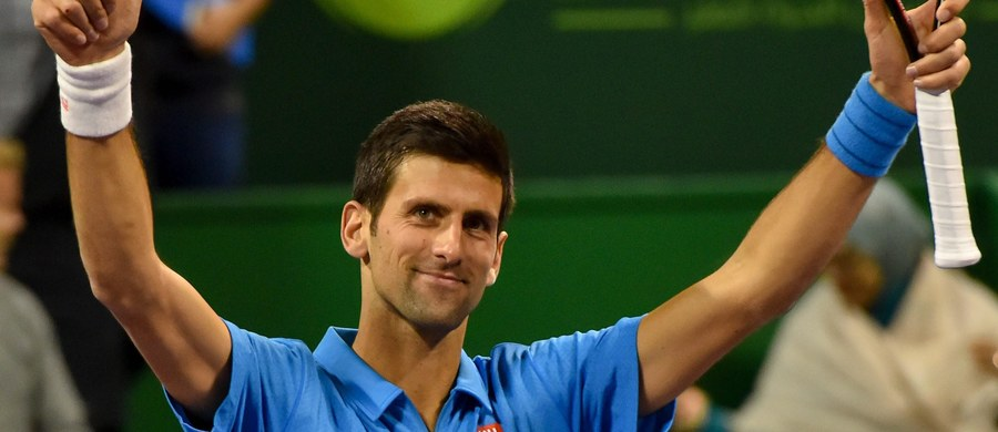 """Rozstawiony z numerem drugim Serb Novak Djokovic pokonał grającego z """"jedynką"""" Brytyjczyka Andy'ego Murraya 6:3, 5:7, 6:4 w finale tenisowego turnieju ATP w stolicy Kataru Dausze (pula nagród 1,34 mln dolarów)."""