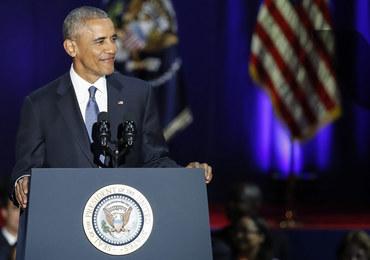 """Pożegnalne wystąpienie Baracka Obamy. """"Ameryka jest obecnie lepsza i silniejsza"""""""