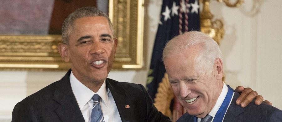 """Ustępujący prezydent USA Barack Obama uhonorował Medalem Wolności swego zastępcę, wiceprezydenta Joe Bidena. """"Biden jest najlepszym wiceprezydentem w historii USA"""" - stwierdził Obama."""