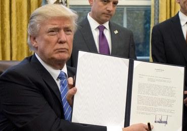 Trump podpisał dekret wycofujący USA z umowy o wolnym handlu