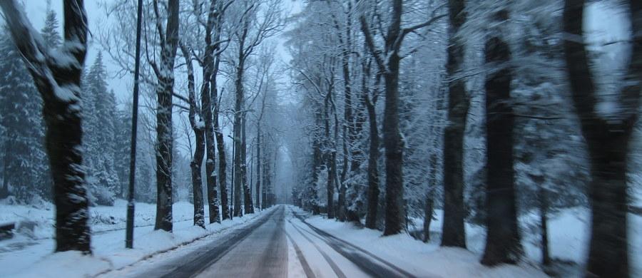 Mokre i bardzo śliskie drogi na Dolnym Śląsku. Miejscami jazdę utrudnia gołoledź. Bardzo trudne warunki także w woj. zachodniopomorskim - tam pada śnieg i śnieg z deszczem.