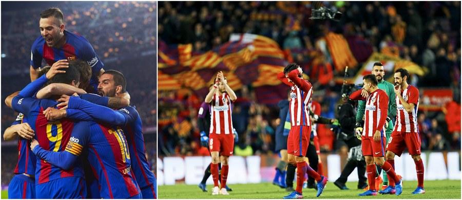 Broniąca trofeum Barcelona awansowała do finału piłkarskiego Pucharu Hiszpanii. We wtorek zremisowała u siebie z Atletico Madryt 1:1, a przed tygodniem wygrała na wyjeździe 2:1. Najbardziej utytułowany klub w historii rozgrywek pozna swego finałowego rywala w środę.