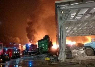 Pożar wysypiska śmieci. Akcja strażaków potrwa kilka dni
