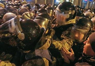 Burdy na Majdanie. Policja starła się z nacjonalistami