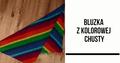 Bluza z kolorowej chusty