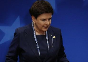 Premier Beata Szydło: Nie podpiszę konkluzji ze szczytu