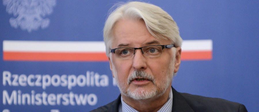 """Polityka Unii Europejskiej okazała się polityką podwójnych standardów i oczekiwania. Musimy drastycznie obniżyć poziom zaufania wobec UE, zacząć prowadzić także politykę negatywną - mówi szef MSZ Witold Waszczykowski w wywiadzie dla """"Super Expressu""""."""