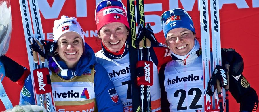 Marit Bjoergen wygrała wieńczący sezon 2016/17 bieg na dochodzenie na 10 km techniką dowolną w zawodach narciarskiego Pucharu Świata w Quebec. Norweżka o 1,2 s wyprzedziła rodaczkę Heidi Weng, która już wcześniej zapewniła sobie triumf w klasyfikacji generalnej. Trzecia Szwedka Stina Nilsson straciła do zwyciężczyni równo minutę. Polki nie startowały.
