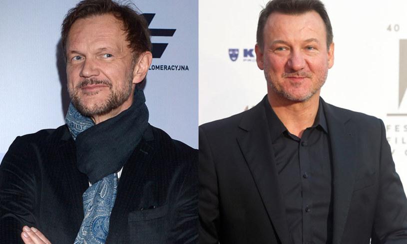 """Robert Więckiewicz i Cezary Pazura to gwiazdy nowej produkcji HBO - serialu """"Ślepnąc od świateł""""."""