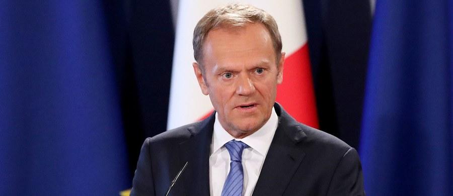 """""""Wierzę w dobre intencje organizatorów wiecu poparcia dla mnie, ale uważam, że data 10 kwietnia jest wysoce niefortunna"""" - napisał na prywatnym profilu Twitterze szef Rady Europejskiej Donald Tusk."""