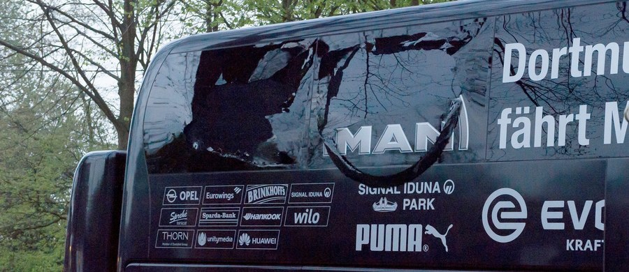 Niemiecka policja zatrzymała podejrzanego w związku z wtorkowym zamachem bombowym na autobus z drużyną piłki nożnej Borussia Dortmund, a w sprawie tej jest dwóch podejrzanych - poinformowała rzeczniczka prokuratury federalnej z siedzibą w Karlsruhe.