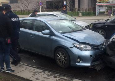 Karambol z udziałem radiowozu w Warszawie, są ranni