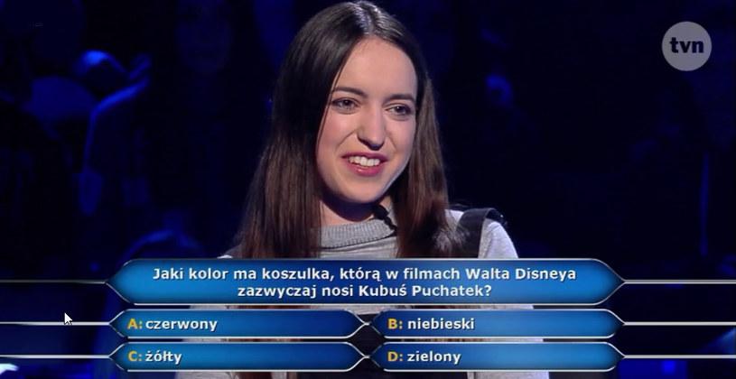 """W ostatnim odcinku """"Milionerów"""", który widzowie TVN obejrzeli 25 kwietnia, pojawiło się pytanie między innymi o filmowy strój... Kubusia Puchatka. Znalibyście odpowiedź?"""