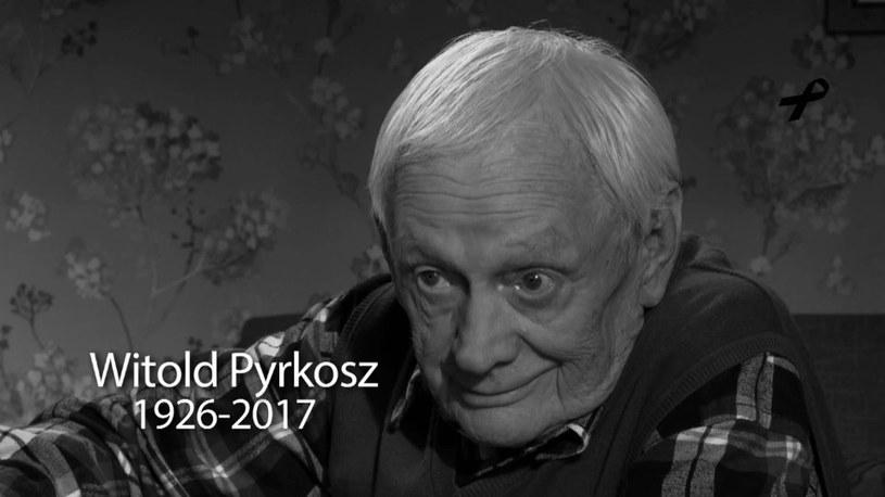 """W specjalnym materiale gwiazdy """"M jak miłość"""" wspominają zmarłego w ubiegłym tygodniu Witolda Pyrkosza."""
