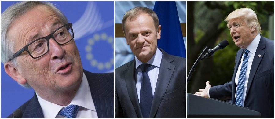 Szefowie Komisji Europejskiej i Rady Europejskiej, Jean-Claude Juncker i Donald Tusk, spotkają się 25 maja w Brukseli z prezydentem USA Donaldem Trumpem. Wizyta tego ostatniego w belgijskiej stolicy związana jest z zaplanowanym na ten dzień szczytem NATO. Będzie to pierwsza zagraniczna podróż Trumpa w roli prezydenta Stanów Zjednoczonych. Dzień przed spotkaniem z Junckerem i Tuskiem zostanie on przyjęty na audiencji przez papieża Franciszka.