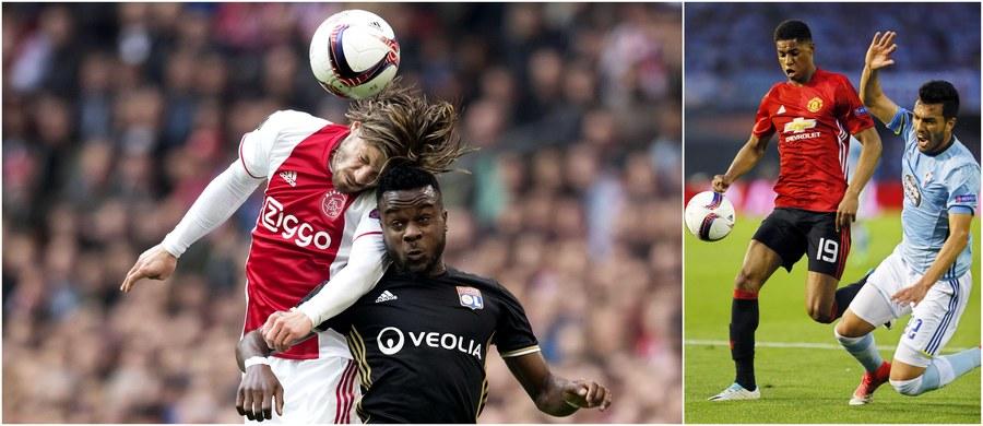 """Manchester United i Ajax Amsterdam postarają się przypieczętować dzisiaj awans do finału Ligi Europejskiej. W pierwszym meczu półfinału """"Czerwone Diabły"""" pokonały na wyjeździe Celtę Vigo 1:0, a Ajax rozbił przed własną publicznością Olympique Lyon 4:1."""