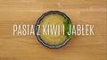 Soczysta pasta z kiwi i jabłek