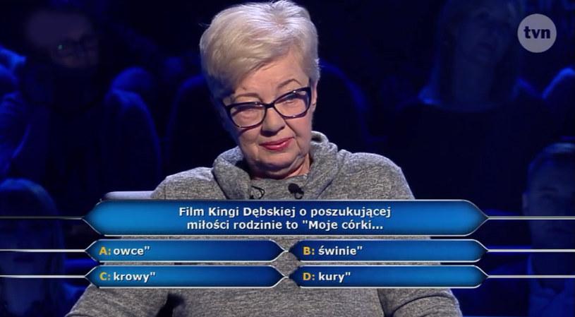 """W kolejnym odcinku """"Milionerów"""" znowu pojawiło się filmowe pytanie. Tym razem chodziło o kino polskie. Czy uczestniczka teleturnieju znała odpowiedź? Sprawdźcie!"""
