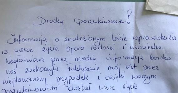 Szczęśliwy finał poszukiwań autora i adresatki miłosnego listu sprzed lat. Chodzi o historię Grzegorza i Iwony. Korespondencja została odnaleziona w IV Liceum Ogólnokształcącym w Lublinie. Trafiła tam w książce, zakupionej przez internet. Po nagłośnieniu sprawy Iwona z Grzegorzem napisali list do uczniów szkoły. Tym razem jednak wysłali go tradycyjną pocztą.