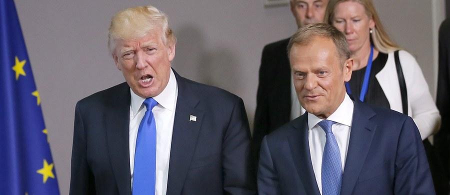 Prezydent Stanów Zjednoczonych rozpoczyna spotkanie podczas lunchu z prezydentem Francji Eammanuelem Macronem. Jak donosi nasza dziennikarka w Brukseli Katarzyna Szymanska - Borginon, po spotkaniu z liderami unijnych instytucji Donaldem Tuskiem i Jean Cleaudem Junckerem jest jasne, że między Unią a Stanami Zjednoczonymi jest zgoda co do walki z terroryzmem, ale pozostają poważne różnice zdań.