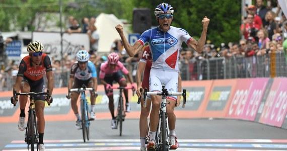 Thibaut Pinot (FDJ) wygrał 20., przedostatni etap Giro d'Italia z Pordenone do Asiago (190 km). To drugie zwycięstwo kolarza z Francji w tegorocznym wyścigu. Liderem klasyfikacji generalnej pozostał piąty w sobotę Kolumbijczyk Nairo Quintana (Movistar).