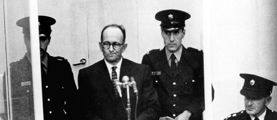 """55 lat temu, 31 maja 1962 roku, w Izraelu wykonano wyrok śmierci na Adolfie Echmannie, szefie wydziału żydowskiego w Głównym Urzędzie Bezpieczeństwa Rzeszy, """"mordercy zza biurka"""", odpowiedzialnym za śmierć milionów Żydów. Jego prochy rozsypano na morzu, poza wodami terytorialnymi Izraela."""