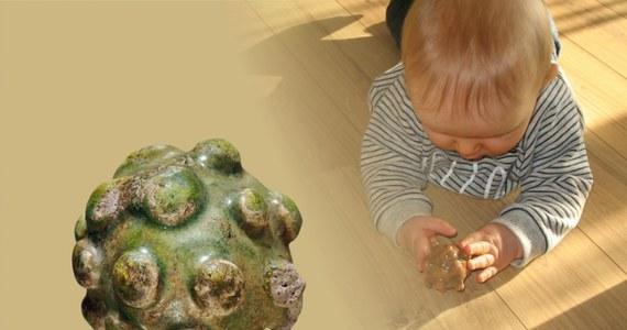 Grzechotkę sprzed 950 lat można oglądać w Muzeum Archeologicznym w Krakowie. Została ulepiona z białej gliny, ozdobiona guzami i pokryta zielonkawym szkliwem. Umieszczony w jej wnętrzu kamyk wydający dźwięki, miał pobudzać wyobraźnię dziecka, a może też odstraszać złe duchy.