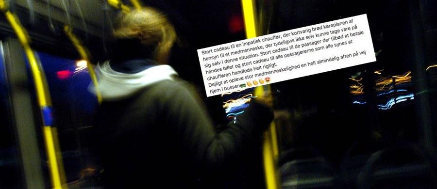 Kiedy kobieta kierująca autobusem zorientowała się, że jedna z pasażerek jest pijana, bez pieniędzy i daleko od domu, zdecydowała się zmienić trasę, by bezpiecznie odwieźć dziewczynę do miejsca jej zamieszkania. Kierowca została okrzyknięta przed media i portale społecznościowe bohaterką – informuje duńska telewizja TV2.