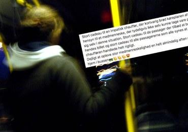 Kierująca autobusem zmieniła trasę, by odwieźć pijaną nastolatkę do domu