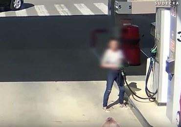 Chciała podpalić stację benzynową. Usłyszała zarzuty