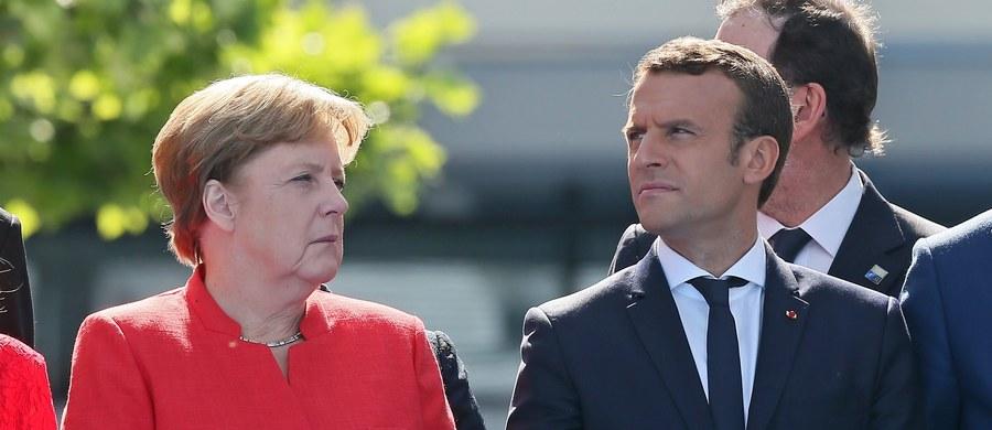 """Kanclerz Niemiec Angela Merkel poparła w Brukseli prezydenta Francji Emmanuela Macrona w jego krytyce pod adresem przywódców krajów Europy Środkowo-Wschodniej, którym zarzucił """"cyniczne podejście"""" i zdradę Unii Europejskiej."""