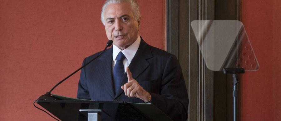 Poparcie dla zamieszanego w skandal korupcyjny prezydenta Brazylii Michela Temera spadło do rekordowo niskiego poziomu. Jego rządy pozytywnie ocenia zaledwie 7 proc. Brazylijczyków - wynika z opublikowanego w sobotę sondażu instytutu Datafolha.