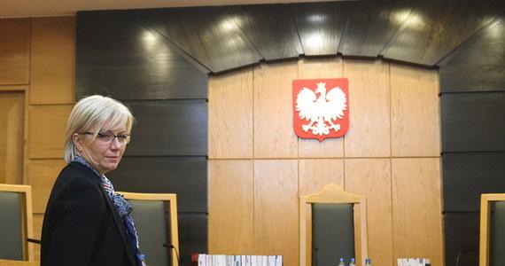 """""""Prawdopodobnie będzie prowadzone postępowanie dyscyplinarne wobec sędziego TK w stanie spoczynku"""" - zapowiedziała prezes TK Julia Przyłębska. Jak wyjaśniała, sprawa ma związek z udziałem sędziego TK w wiecu politycznym."""