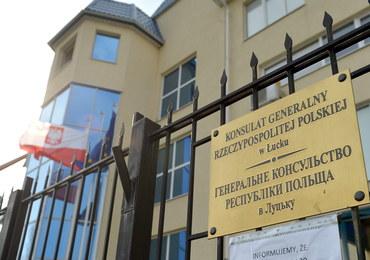 Ukraina: Kolejny incydent przed polskim konsulatem w Łucku