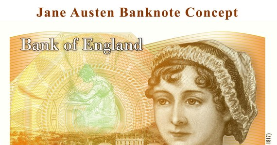Bank Anglii zaprezentował nowy banknot 10-funtowy z wizerunkiem Jane Austen. Portret zmarłej 200 lat temu pisarki należącej do najważniejszych postaci angielskiej literatury zastąpił na banknocie wizerunek twórcy teorii ewolucji Charlesa Darwina.