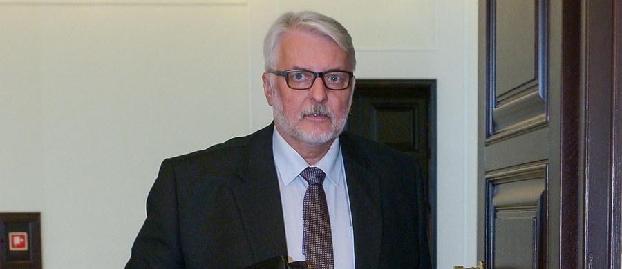 """Witold Waszczykowski odrzuca zaproszenie wiceszefa Komisji Europejskiej Fransa Timmermansa. """"Dopóki proces legislacyjny się nie skończy, nie mam podstaw, by komukolwiek się tłumaczyć"""" - powiedział RMF FM szef polskiej dyplomacji."""