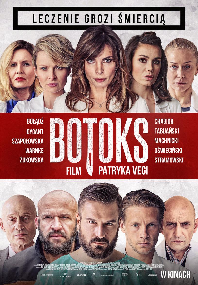 """Dystrybutor nowego filmu Patryka Vegi zaprezentował oficjalny plakat """"Botoksu"""". Produkcję reklamuje hasło """"Leczenie grozi śmiercią!""""."""