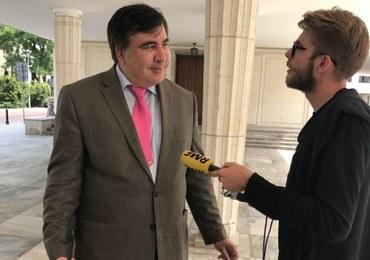 Micheil Saakaszwili w Warszawie po odebraniu ukraińskiego obywatelstwa. To pierwsza taka rozmowa