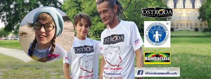 Agata i Wojtek Miszewscy przejechali 450 km na rolkach z Oleśnicy do Ostródy, by w ten sposób wesprzeć leczenie i rehabilitację niepełnosprawnej Majki.