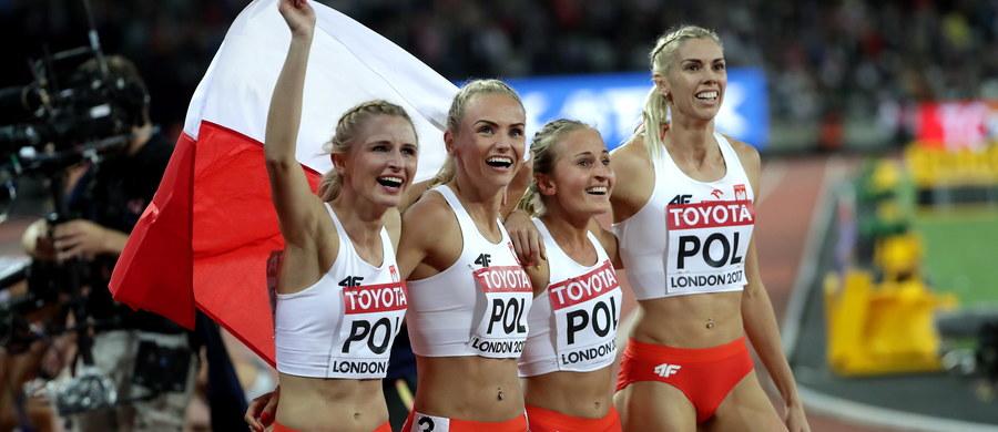 Małgorzata Hołub, Iga Baumgart, Aleksandra Gaworska i Justyna Święty wynikiem 3:25:41 min zdobyły w Londynie brązowy medal lekkoatletycznych mistrzostw świata w sztafecie 4x400 m. Zwyciężyły Amerykanki z czasem 3:19:02 min, przed Brytyjkami, które zanotowały czas 3:25:00 min.