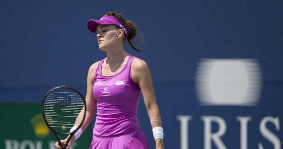 Agnieszka Radwańska odpadła w pierwszej rundzie tenisowego turnieju WTA na kortach twardych w Cincinnati (z pulą nagród 2,5 mln dol.). Rozstawiona z numerem dziesiątym Polka przegrała z Niemką Julią Goerges 4:6, 4:6.