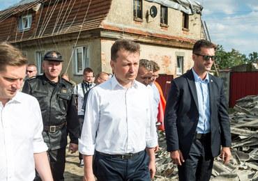 Błaszczak: Przekazano już ponad 30 mln zł dla poszkodowanych w nawałnicach