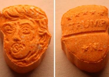 """""""Trump rozkręci imprezę"""". Policja przechwyciła tabletki ecstasy z podobizną prezydenta USA"""