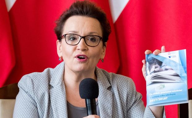 Wszystkie szkoły są przygotowane do rozpoczęcia roku z nowymi podstawami programowymi i nowymi darmowymi podręcznikami - powiedziała w sobotę minister edukacji narodowej Anna Zalewska.