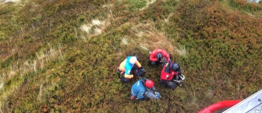 Ratownicy Tatrzańskiego Ochotniczego Pogotowia Ratunkowego odnaleźli zwłoki poszukiwanego 23-letniego turysty. Ciało znaleziono w Koziej Dolince u wylotu Żlebu Kulczyńskiego.