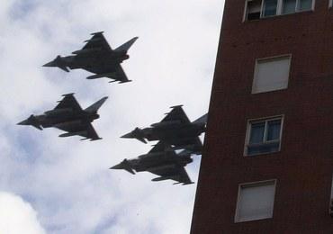 Katastrofa myśliwca w Hiszpanii. Samolot brał udział w paradzie
