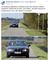 BMW po wale przeciwpowodziowym i rowerowej ścieżce